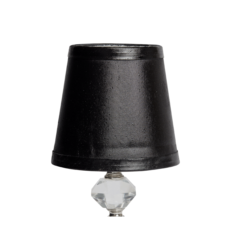 Retro Crystal Lamp Shade in Black