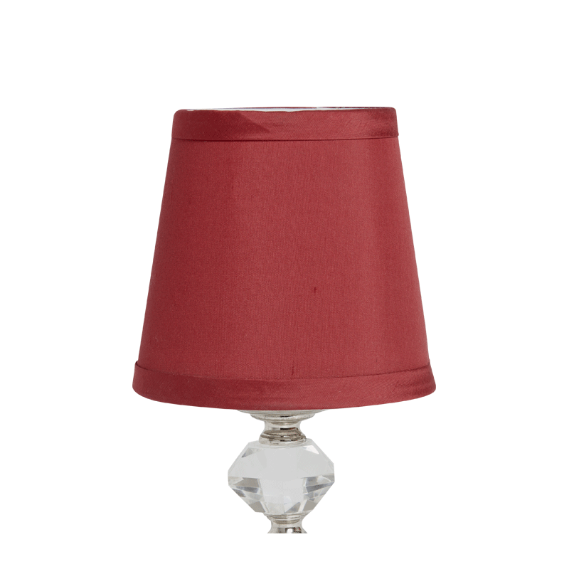 Retro Crystal Lamp Shade in Burgundy