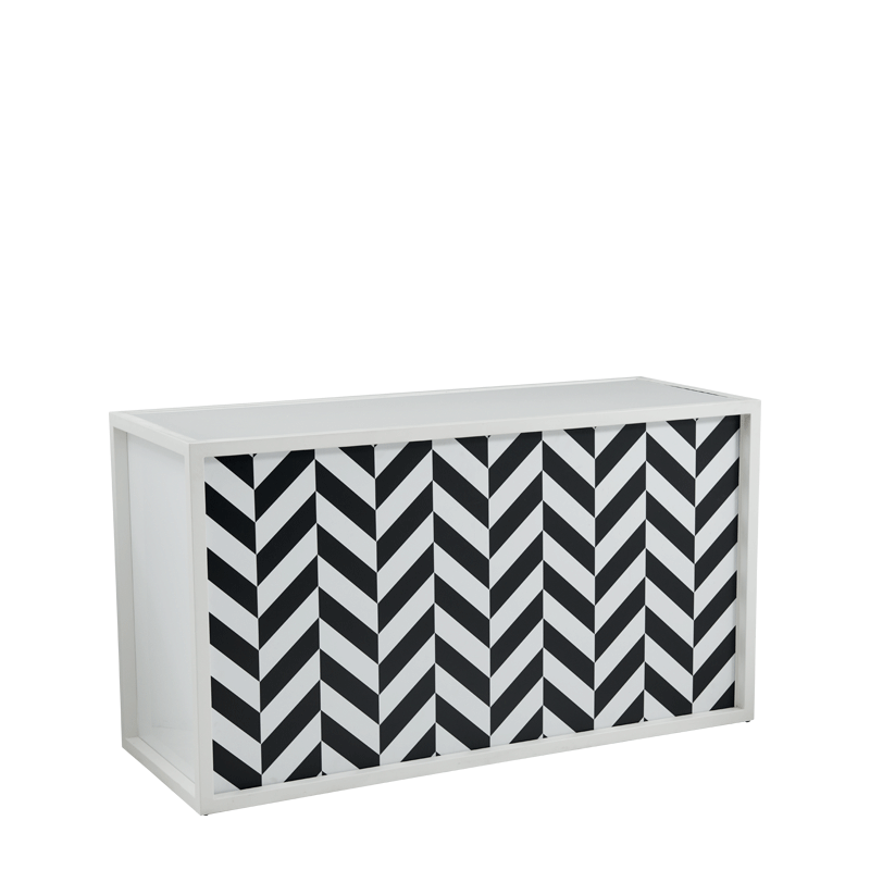 Unico Bar with White Frame and Black and White Front