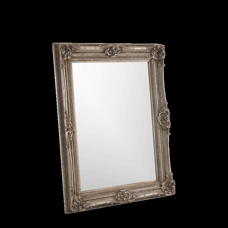Versailles Mirror Petite in Antique Silver
