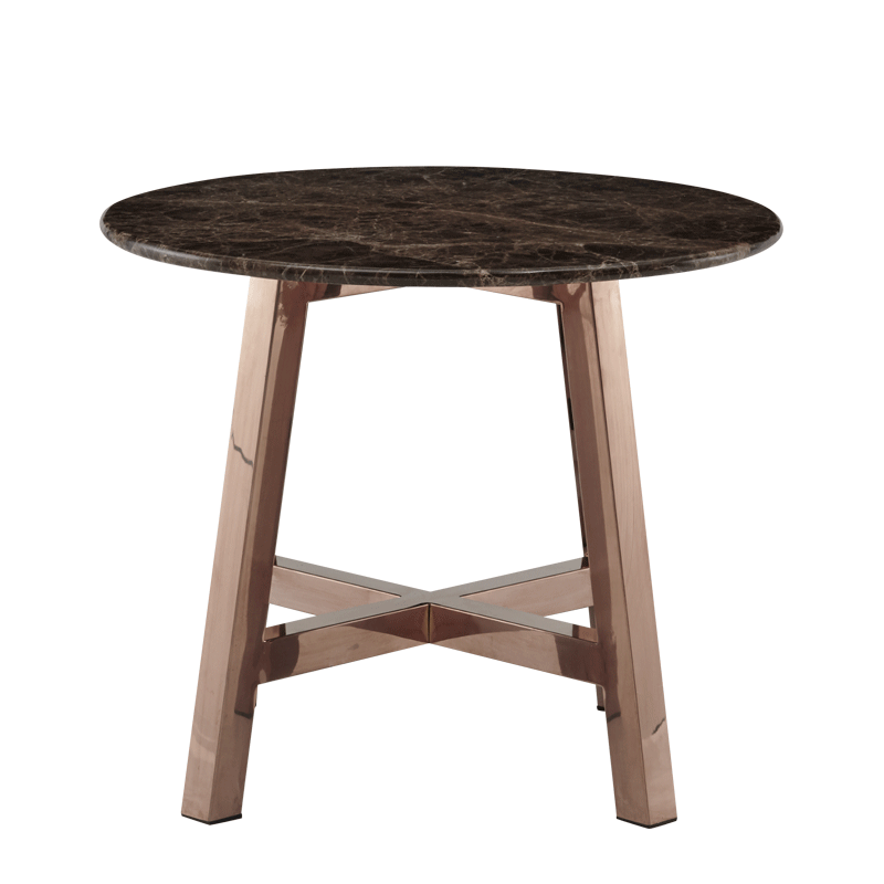 Washington Coffee Table with Brown Marble Top