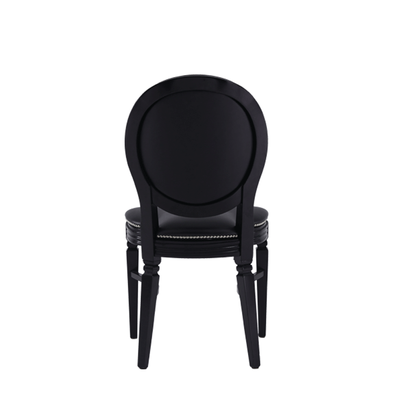 Chandelle Chair in Black with Black Seat Pad