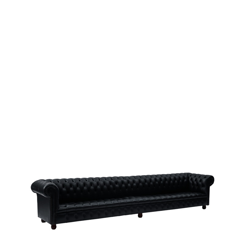 Chesterfield Sofa in Black 13ft
