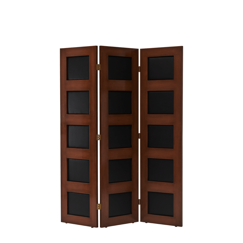 CKC Screen in Antique Walnut Frame with Black Panels