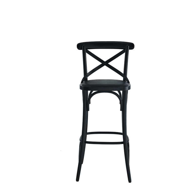 Coco Bar Stool in Black with Black Seat Pad