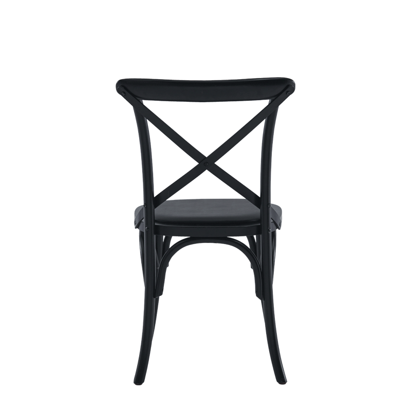 Coco Chair in Black with Black Seat Pad