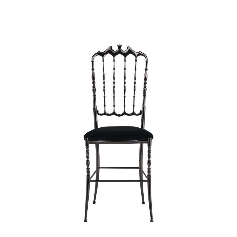 Napoleon Chair in Gunmetal with Black Seat Pad