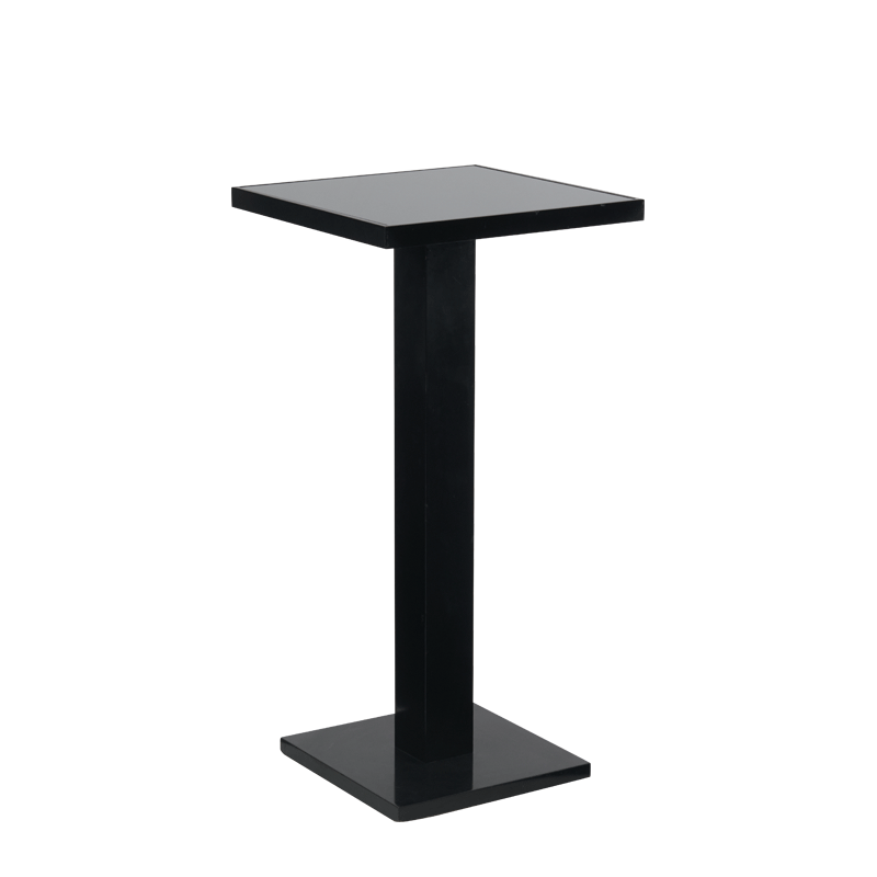 Olympic Poseur Table in Black with Smoked Mirror Top