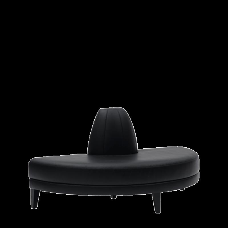 Infinito H Bullnose Sofa in Black