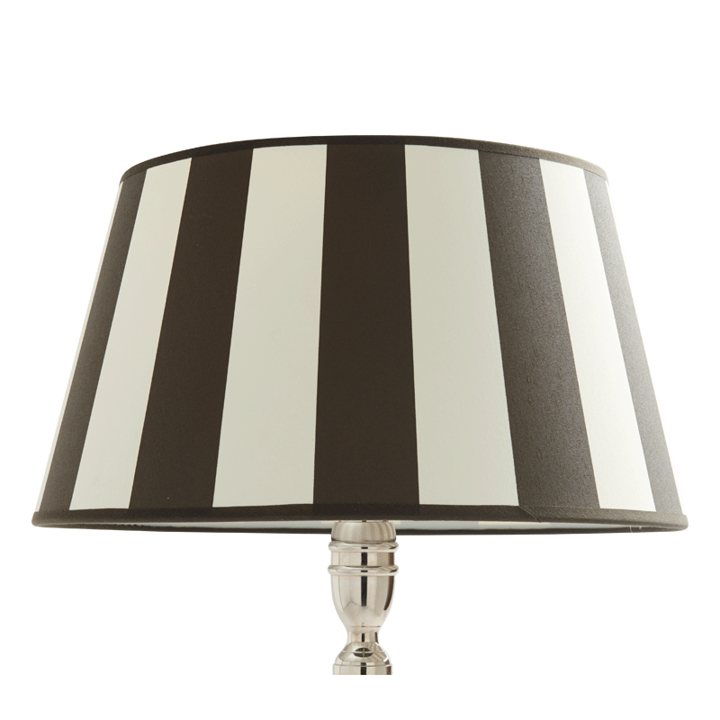Stripes Lamp Shade in Black 16