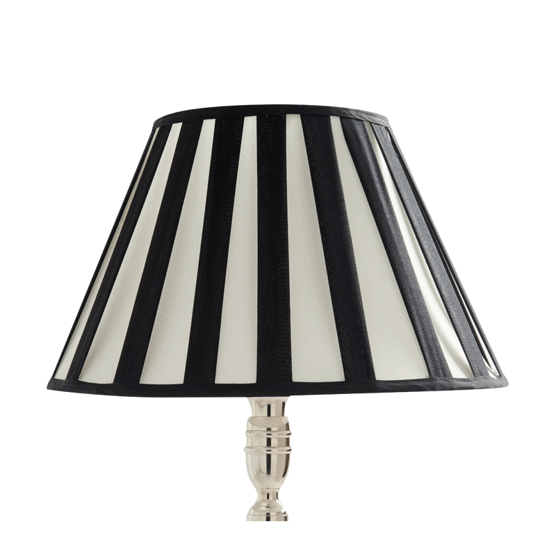 Stripes Lamp Shade Pleated in Black/White 16