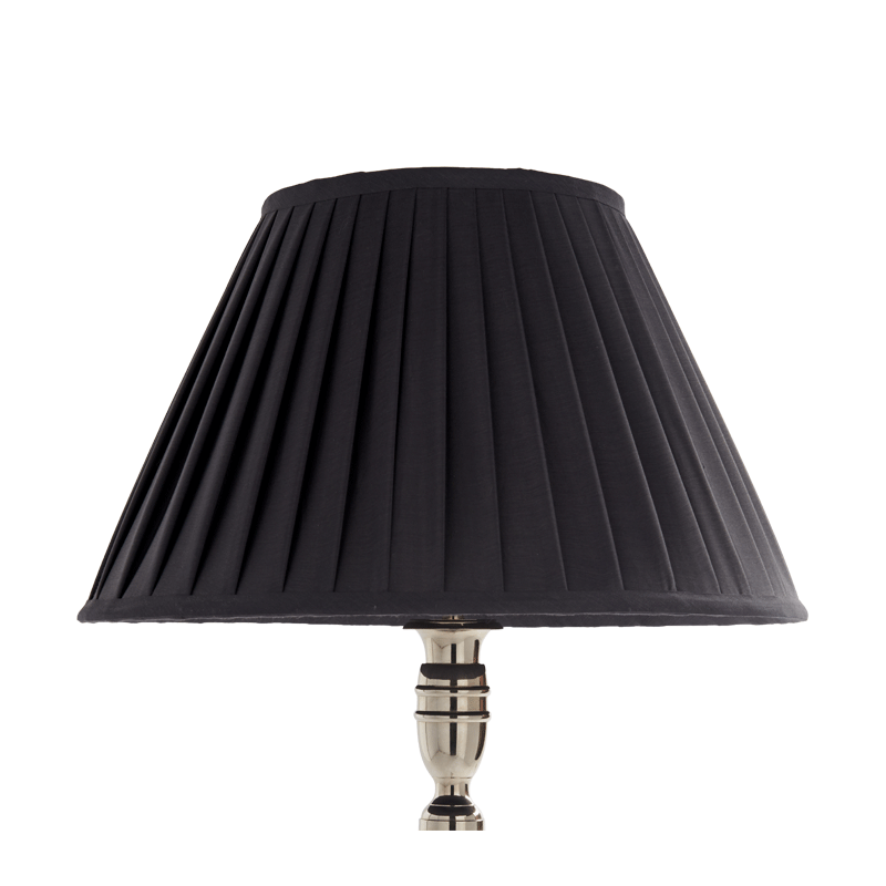 Pleated Lamp Shade in Black 16