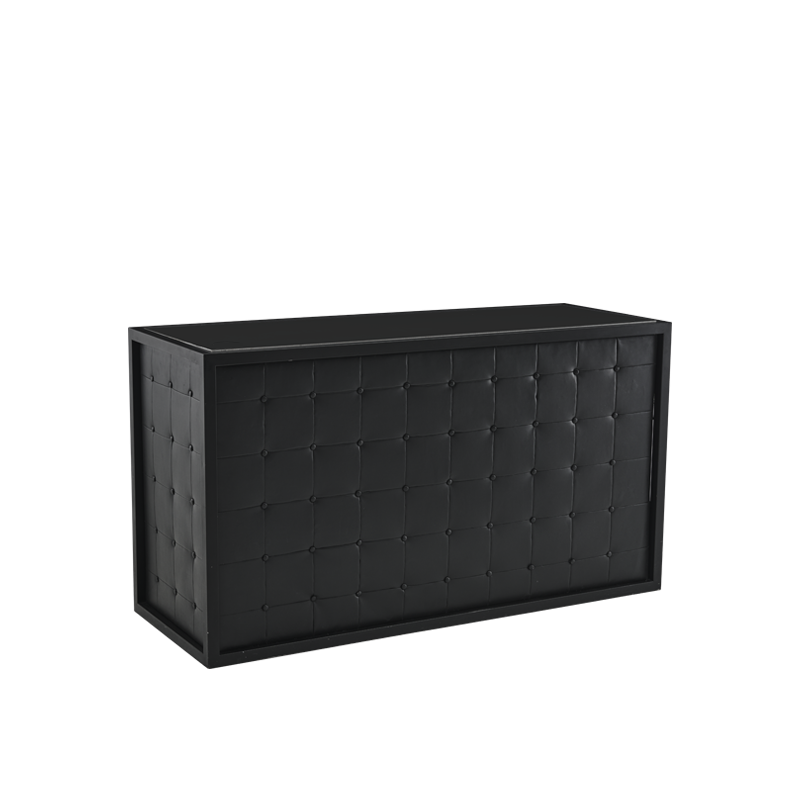 Unico Bar with Black Frame and Black Upholstered Panels