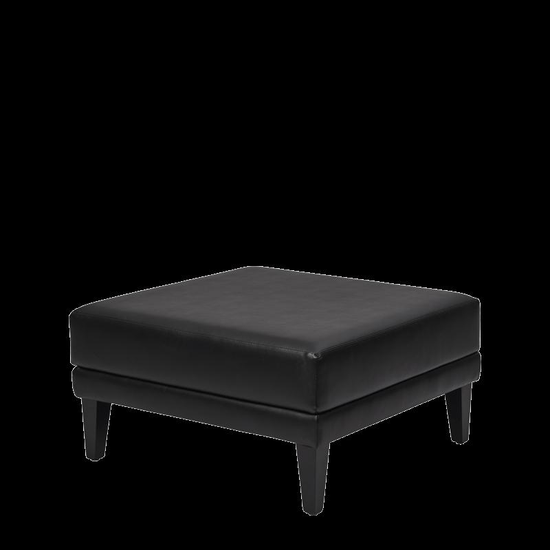 Infinito L Large Square Ottoman in Black