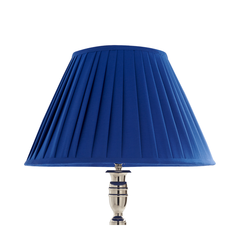 Pleated Lamp Shade in Blue 16