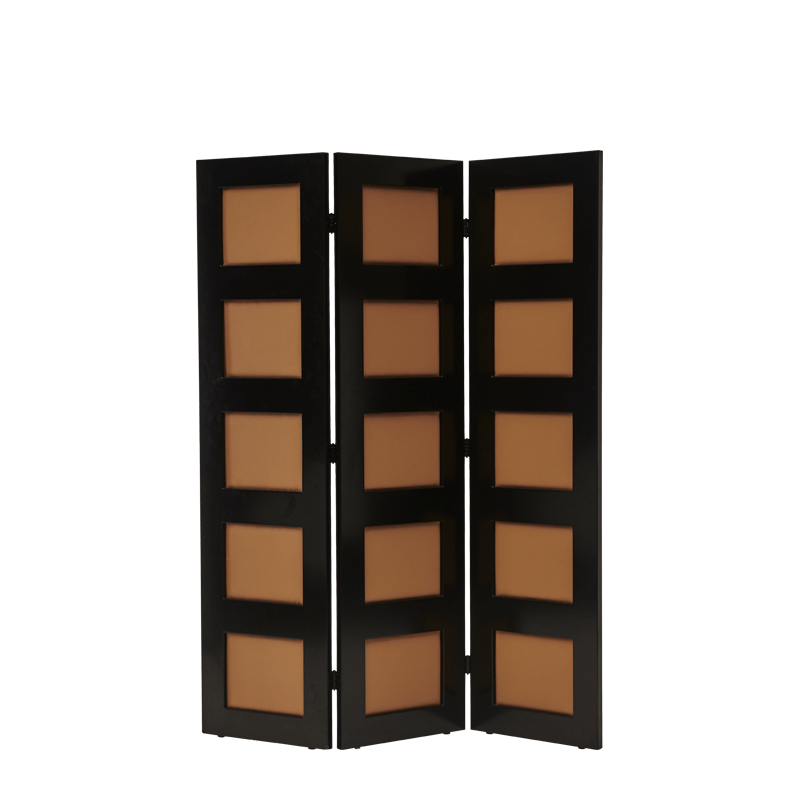 CKC Screen in Black with Caramel Panels