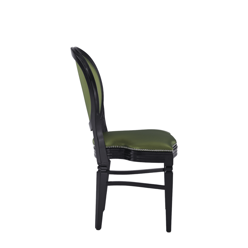 Chandelle Chair in Black with Chartreuse Green Seat Pad
