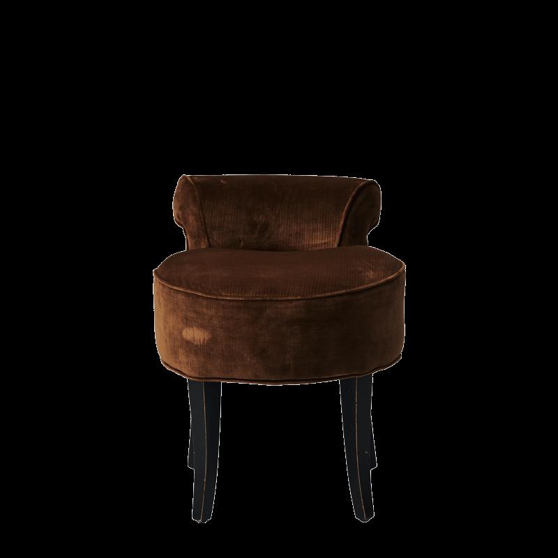 Belgravia Ottoman in Chocolate Brown Velvet