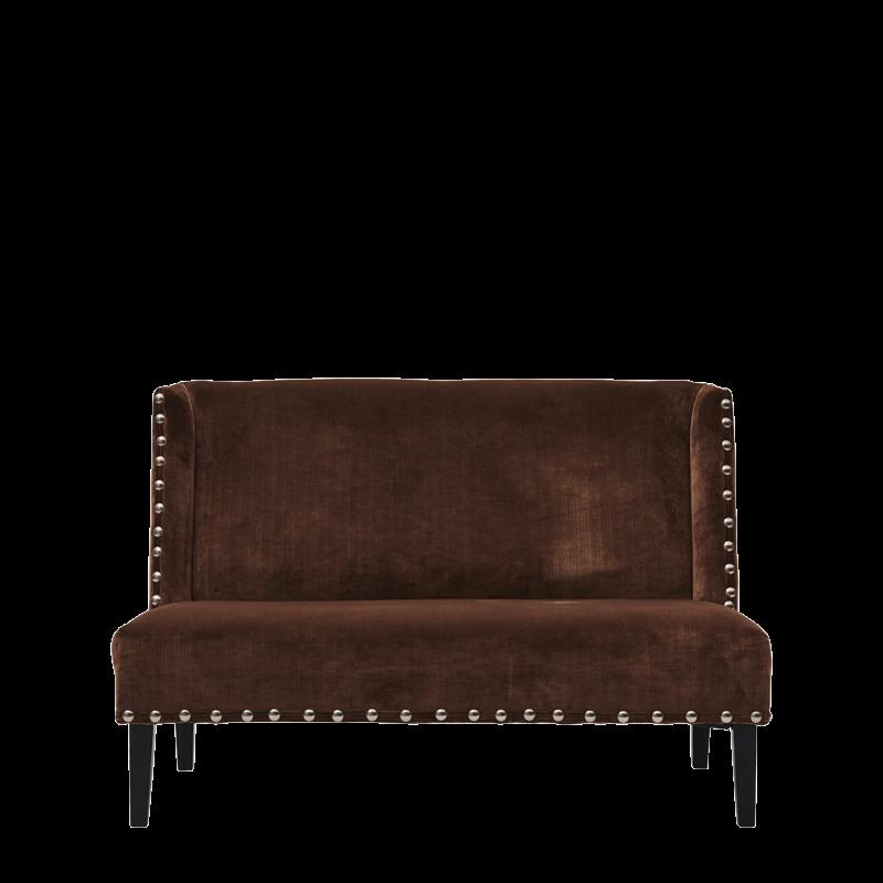 Dilano Sofa in Chocolate Brown Velvet