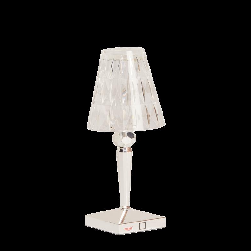 Chrome Battery Lamp