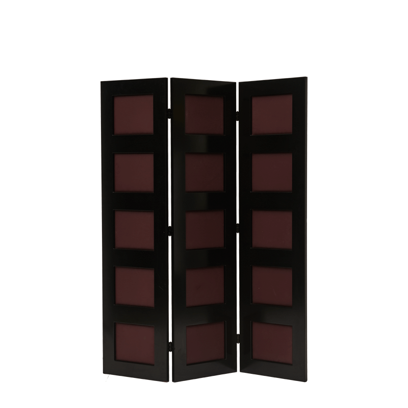 CKC Screen in Black and Claret Wine Panels