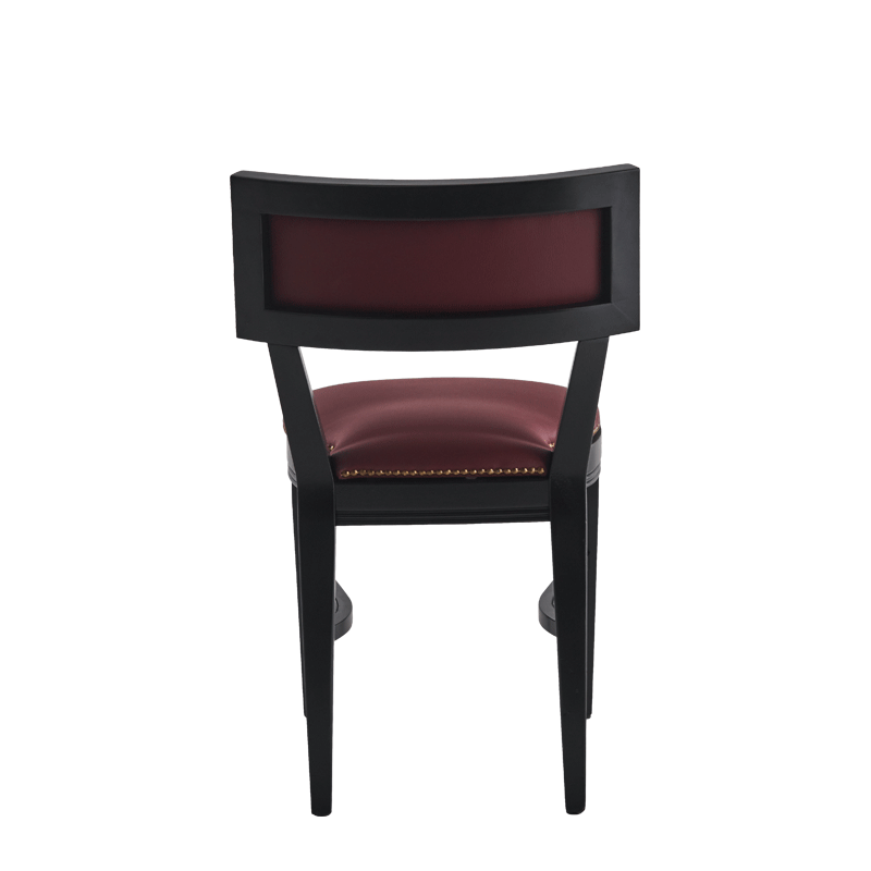 The Bogart Chair in Black with Claret Wine Seat Pad