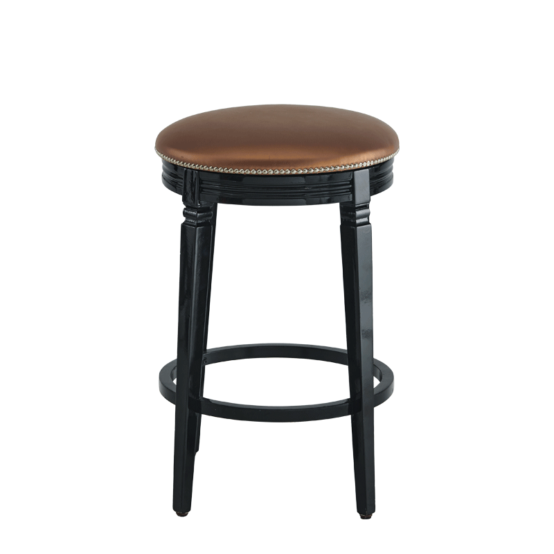 Beli Bar Stool Black with Copper Seat Pad