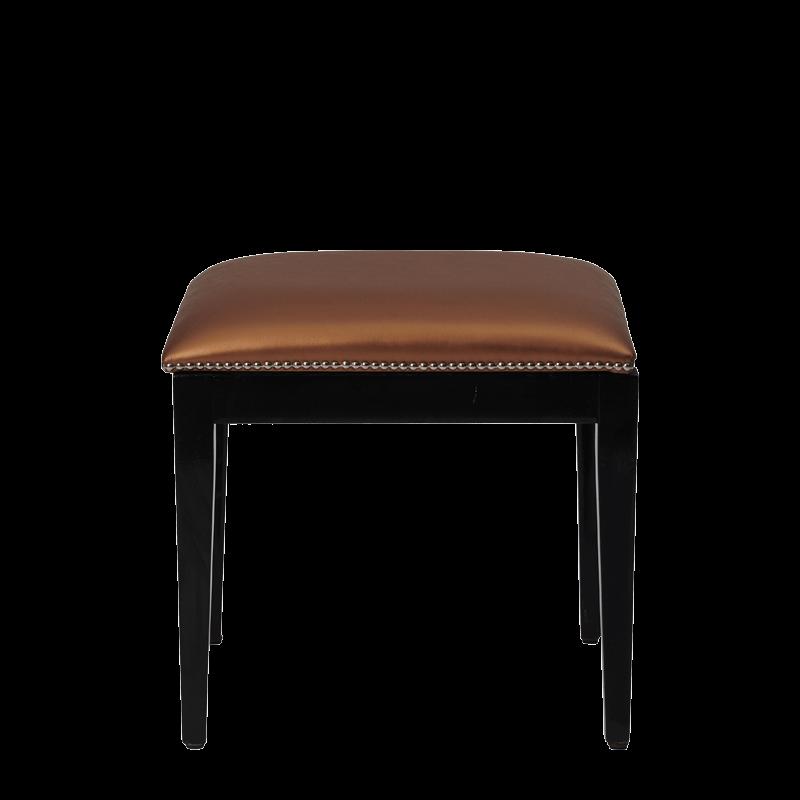 Divano Ottoman in Black with Copper Seat Pad