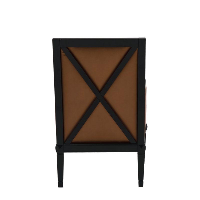 Havana Armchair in Black with Copper Seat Pad