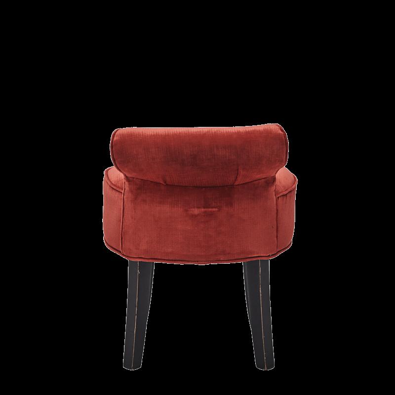 Belgravia Ottoman in Coral Red Velvet