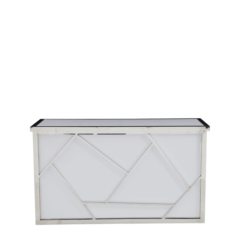 Mondrian Bar in Silver with White Panels