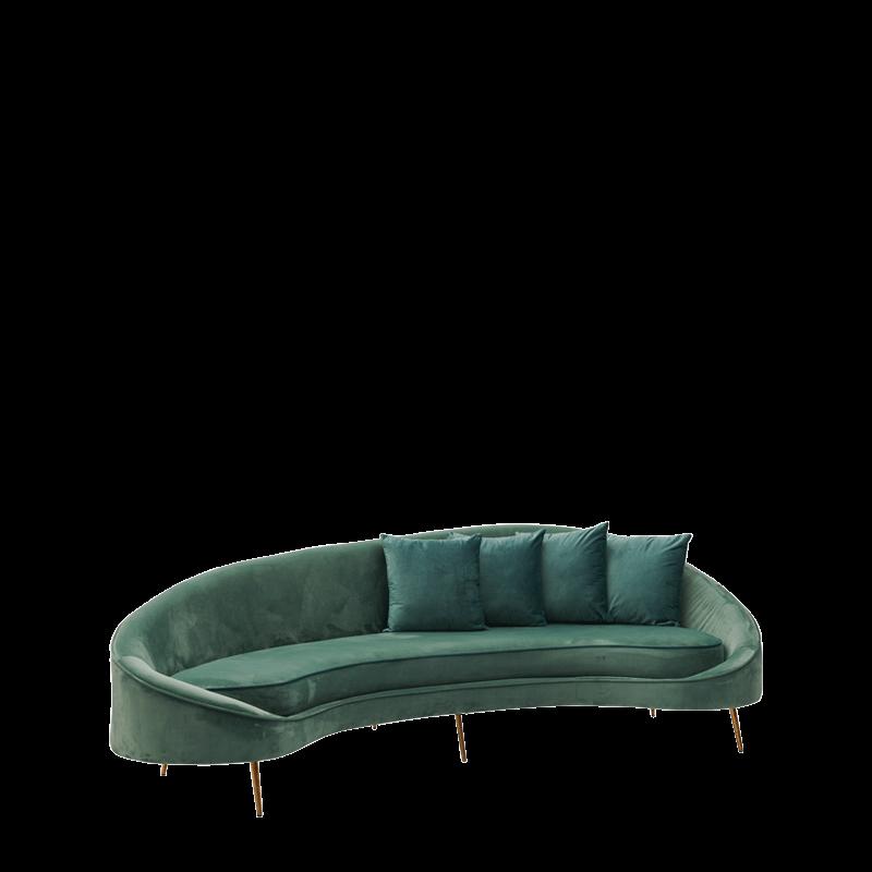 LA Sofa in Dusty Seafoam Green Velvet