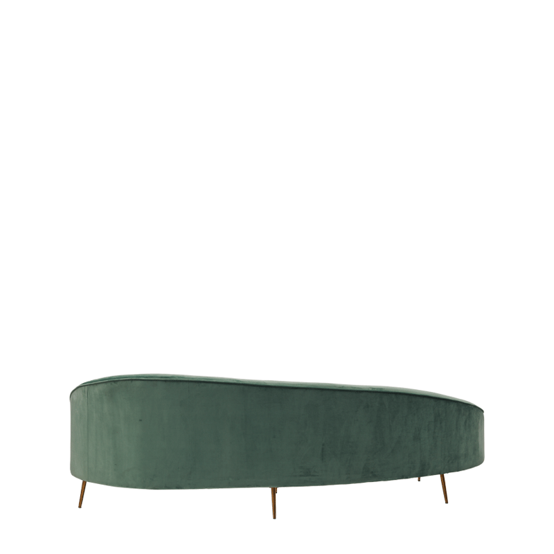 LA Sofa in Dusty Seafoam Green Velvet