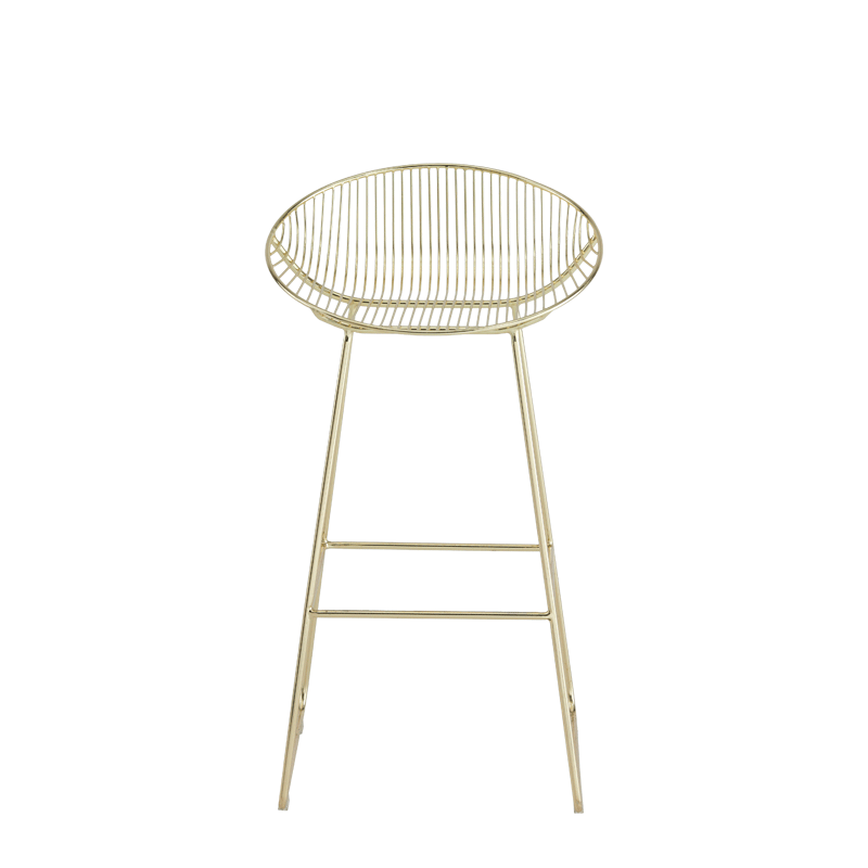 Gianni Round Bar Stool in Gold