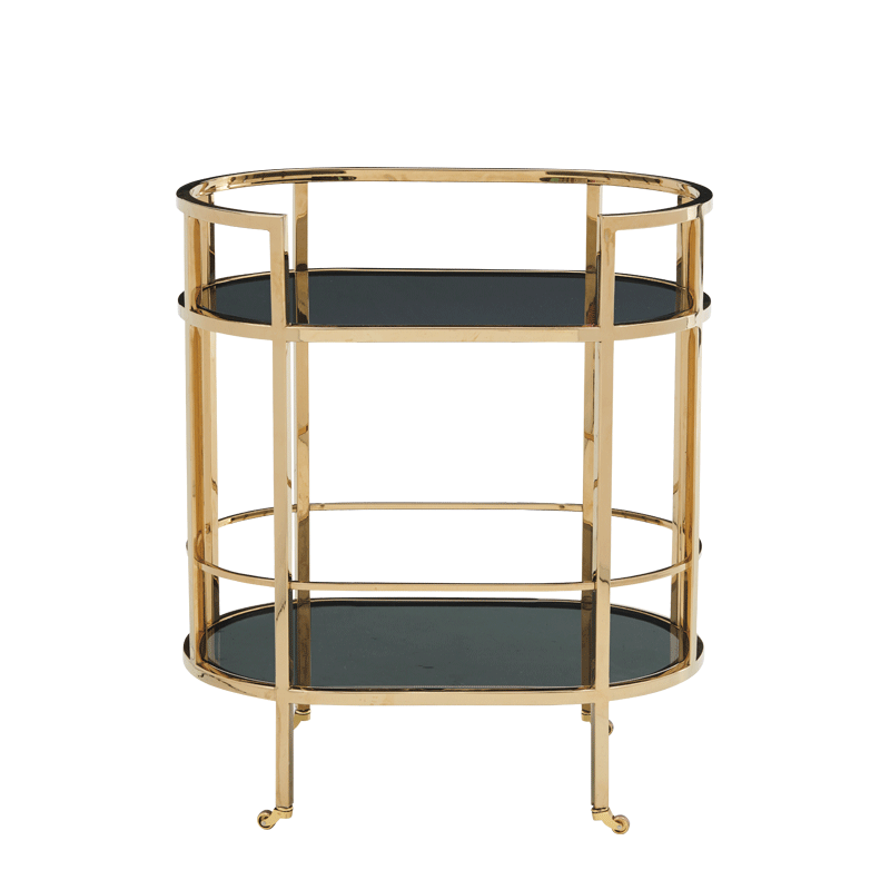 The Collection Drink Trolley in Gold