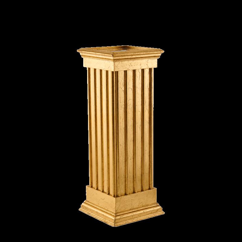 Greek Classic Plinths with Gold Gilt Finish