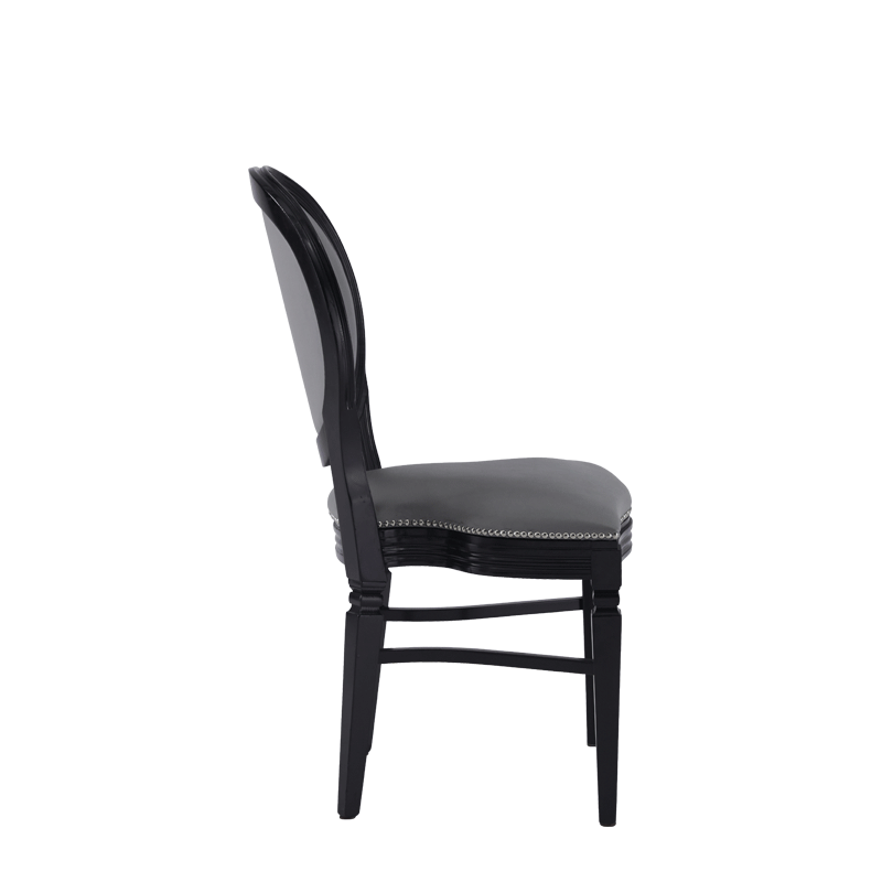 Chandelle Chair in Black with Grey Seat Pad