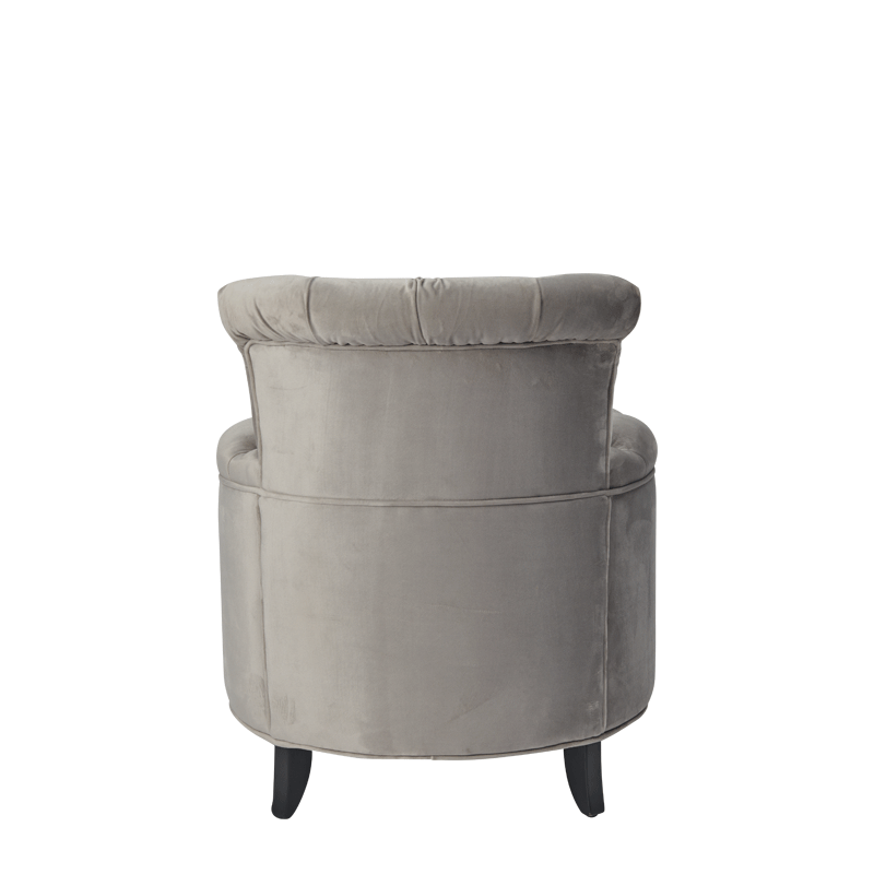 Nandor Ottoman in Grey Velvet