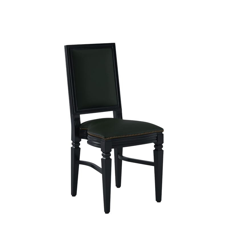 CKC Chair in Black with Hunter Green Seat Pad