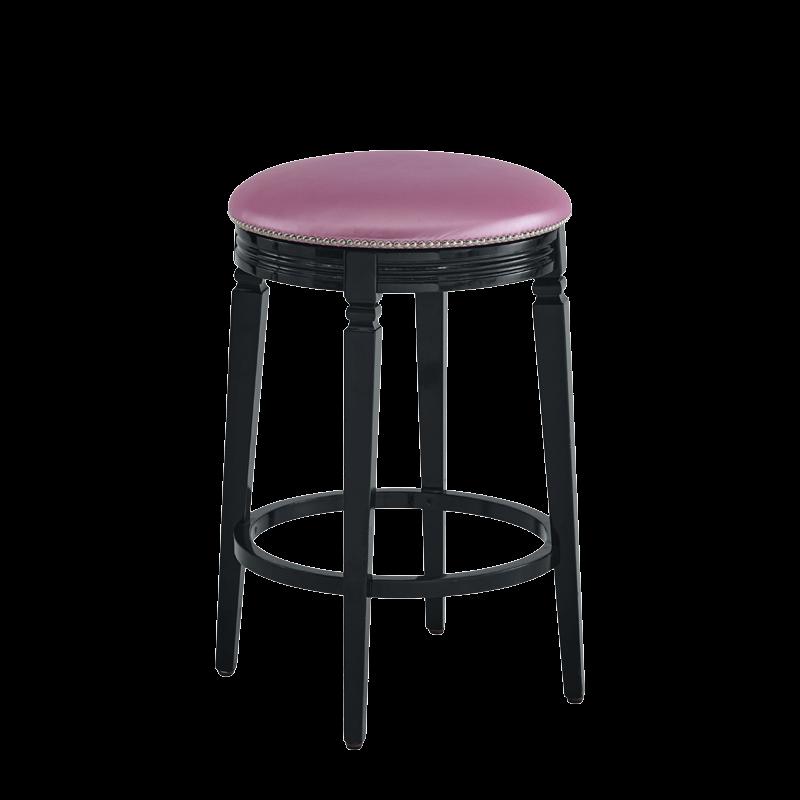 Beli Bar Stool Black with Icy Pink Seat Pad