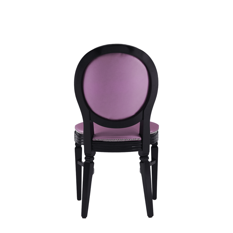 Chandelle Chair in Black with Icy Pink Seat Pad