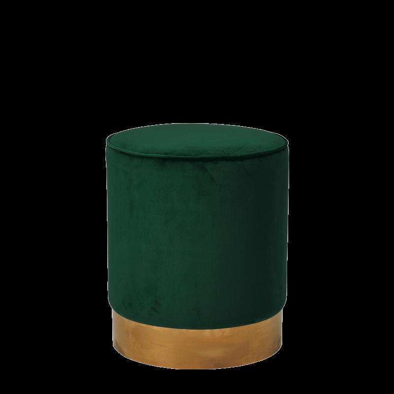 Hollywood Ottoman in Imperial Jade Velvet