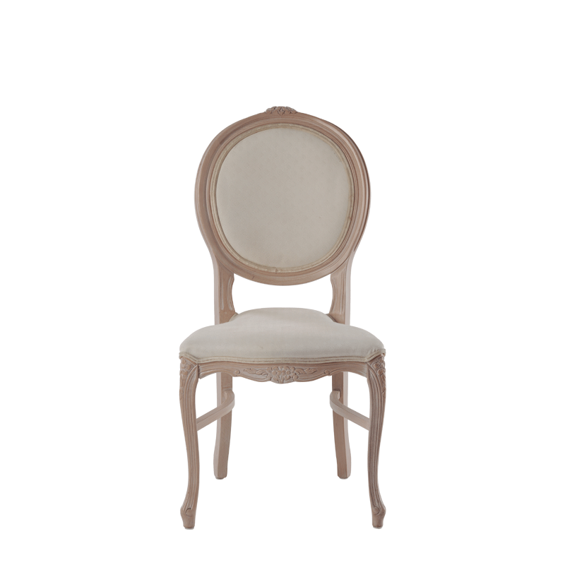 Louise Chair in Ivory with Ivory Seat Pad