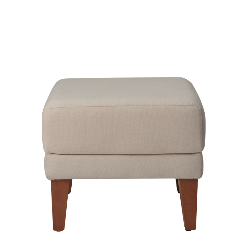 Sardinia Square Ottoman in Ivory
