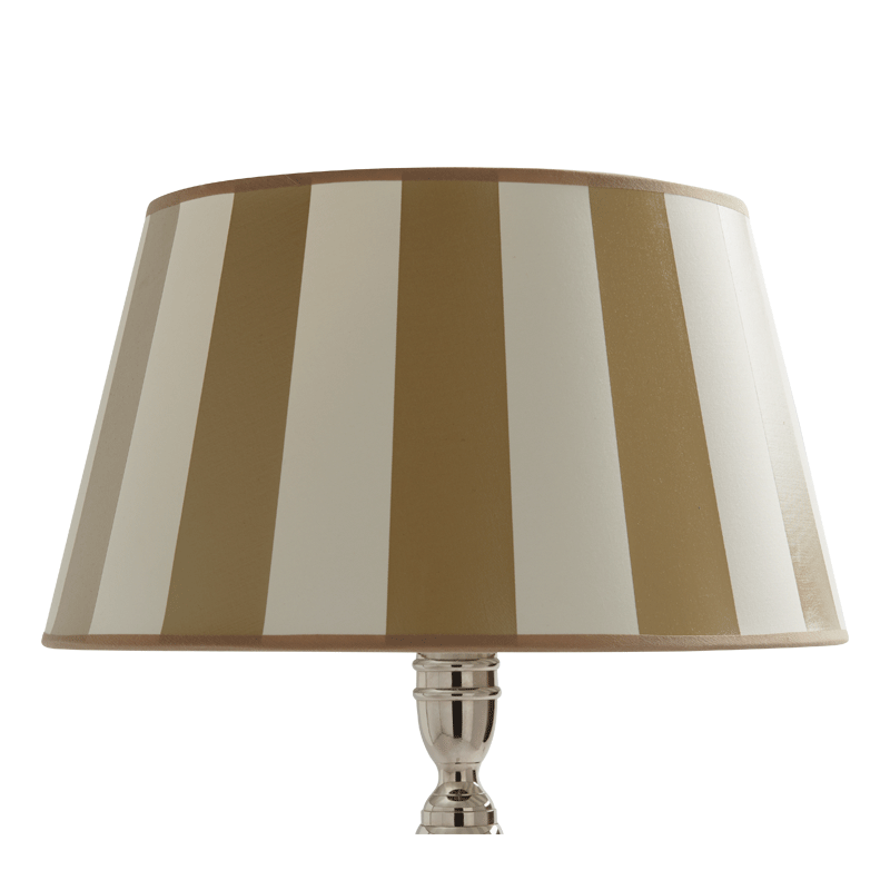 """Stripes Lamp Shade in Beige/Ivory 16"""""""