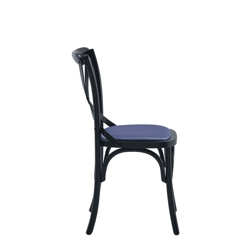 Coco Chair in Black with Lavender Seat Pad
