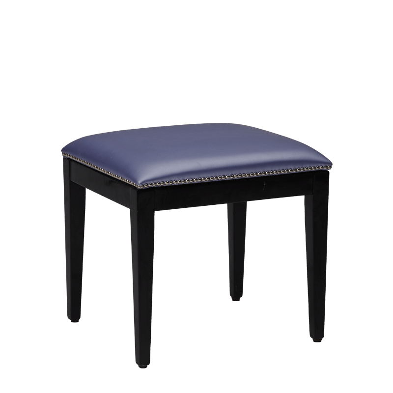 Divano Ottoman in Black with Lavender Seat Pad
