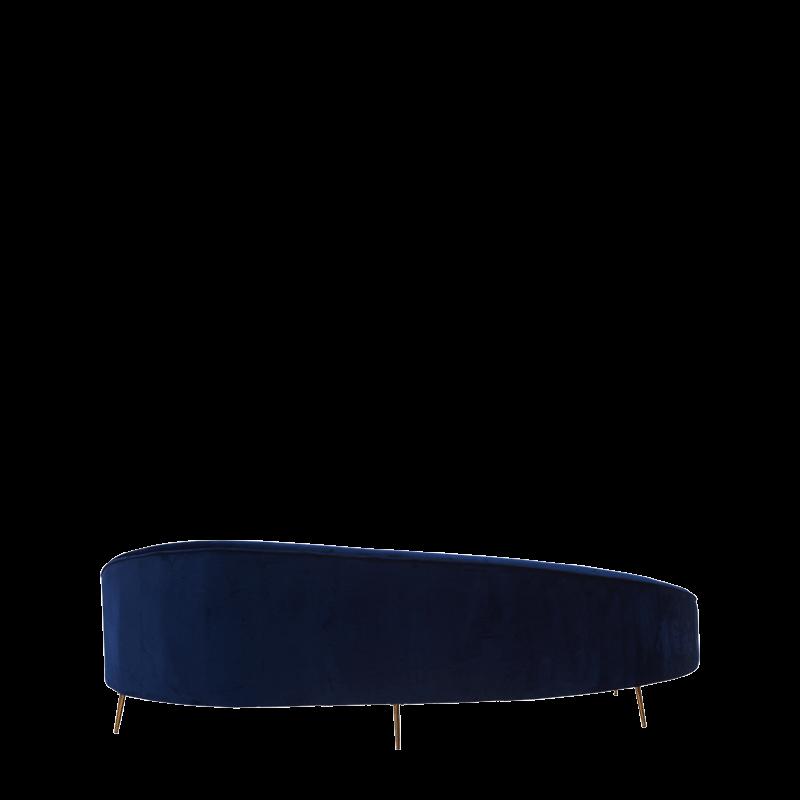 LA Sofa in Midnight Blue Velvet