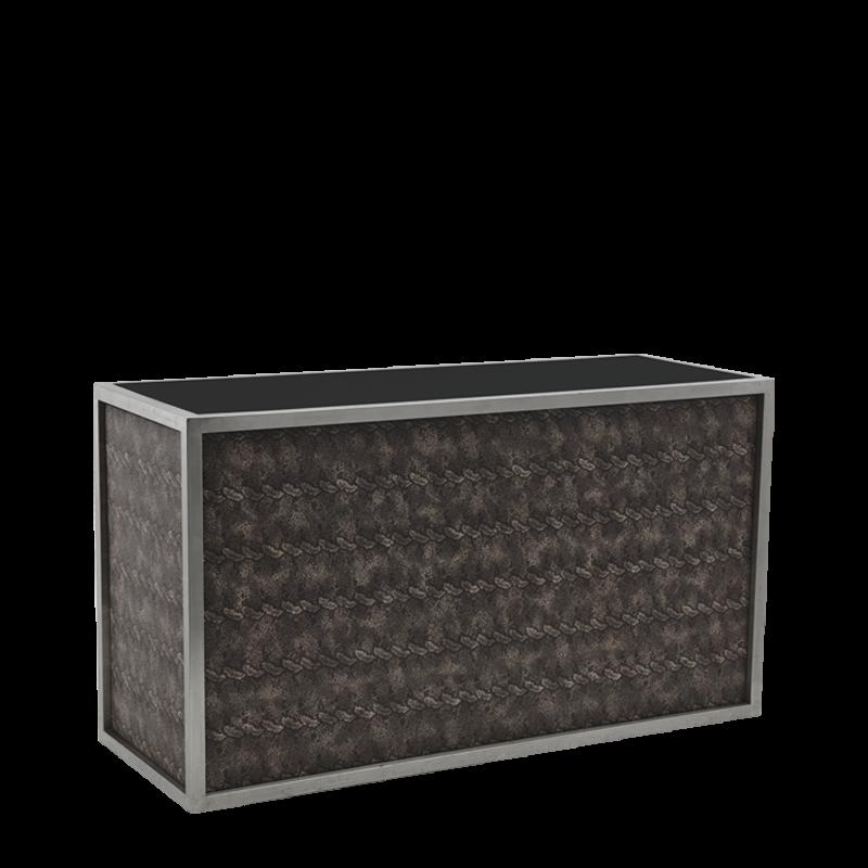 Unico Bar - Stainless Steel Frame - Snake Skin Upholstered Panels