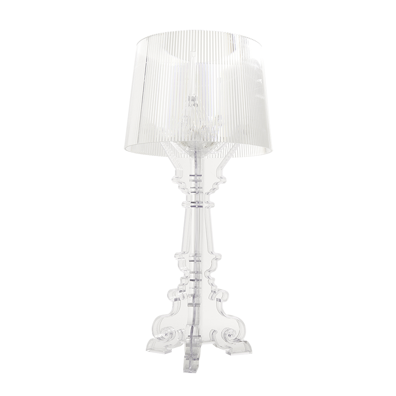 Clear Bourgie Candle Lamp